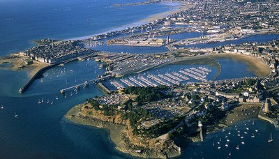 aerial view of st. malo